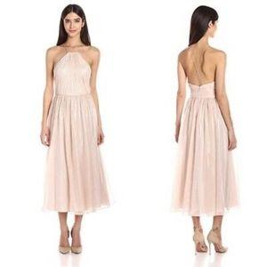 (Vera Wang) Chiffon Midi Dress